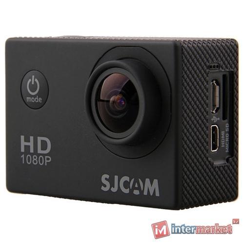 Экшн-камера SJCAM SJ4000, 12Mpx, 1080P, JPEG, MOV, Li-Ion, Black