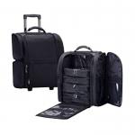 Кейс для визажиста, кордура, черный, на колёсиках, размер 43Х24Х43см.