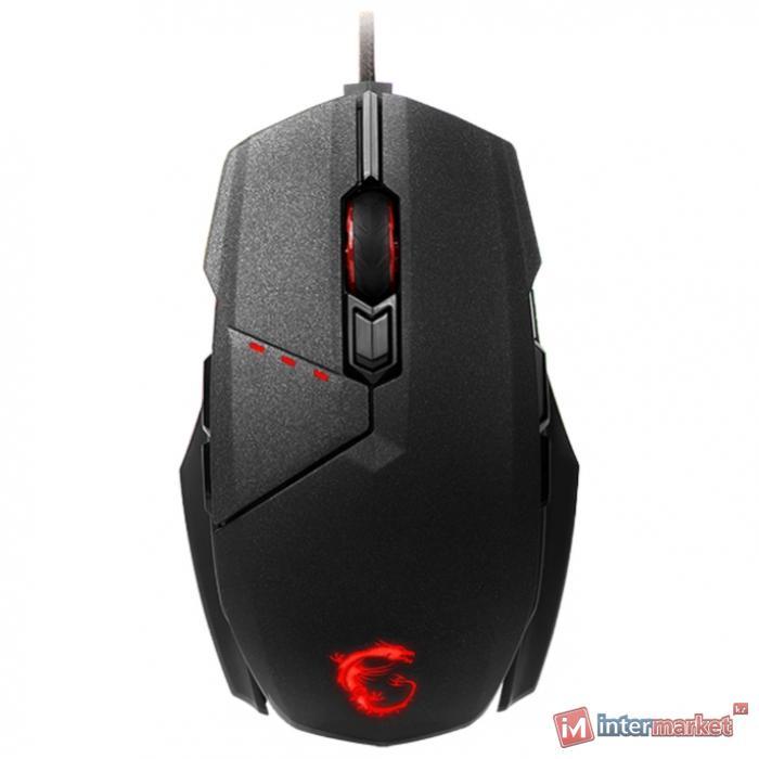 Мышь MSI Clutch GM60 GAMING Mouse USB2.0/RGB подстветка/Вес 115г./кабель 2м/Черный