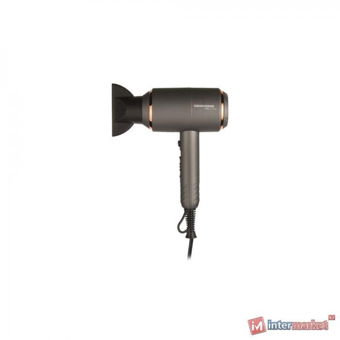 Фен REDMOND RF-535  серый/золото хром