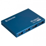 USB HUB 7-port USB 2.0 Defender Septima Slim, Blue